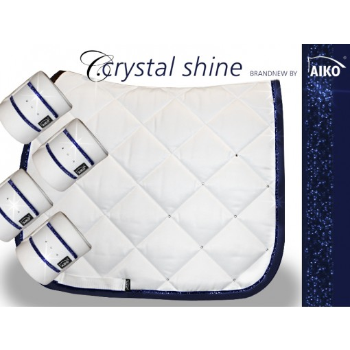 Crystal Shine - Schabracke - weiss-nightblue Endmasspony