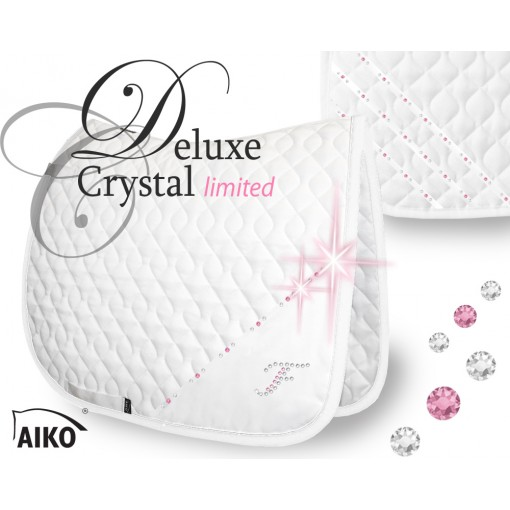 Deluxe Crystal - limited - Exklusive Turnierschabracke weiss-rose