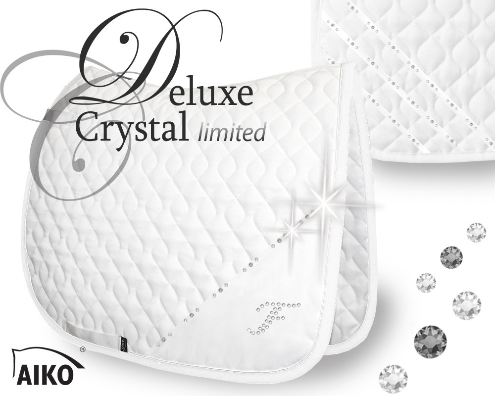 Deluxe Crystal - limited - Exclusive Tournamtent Saddle Pad white-silver