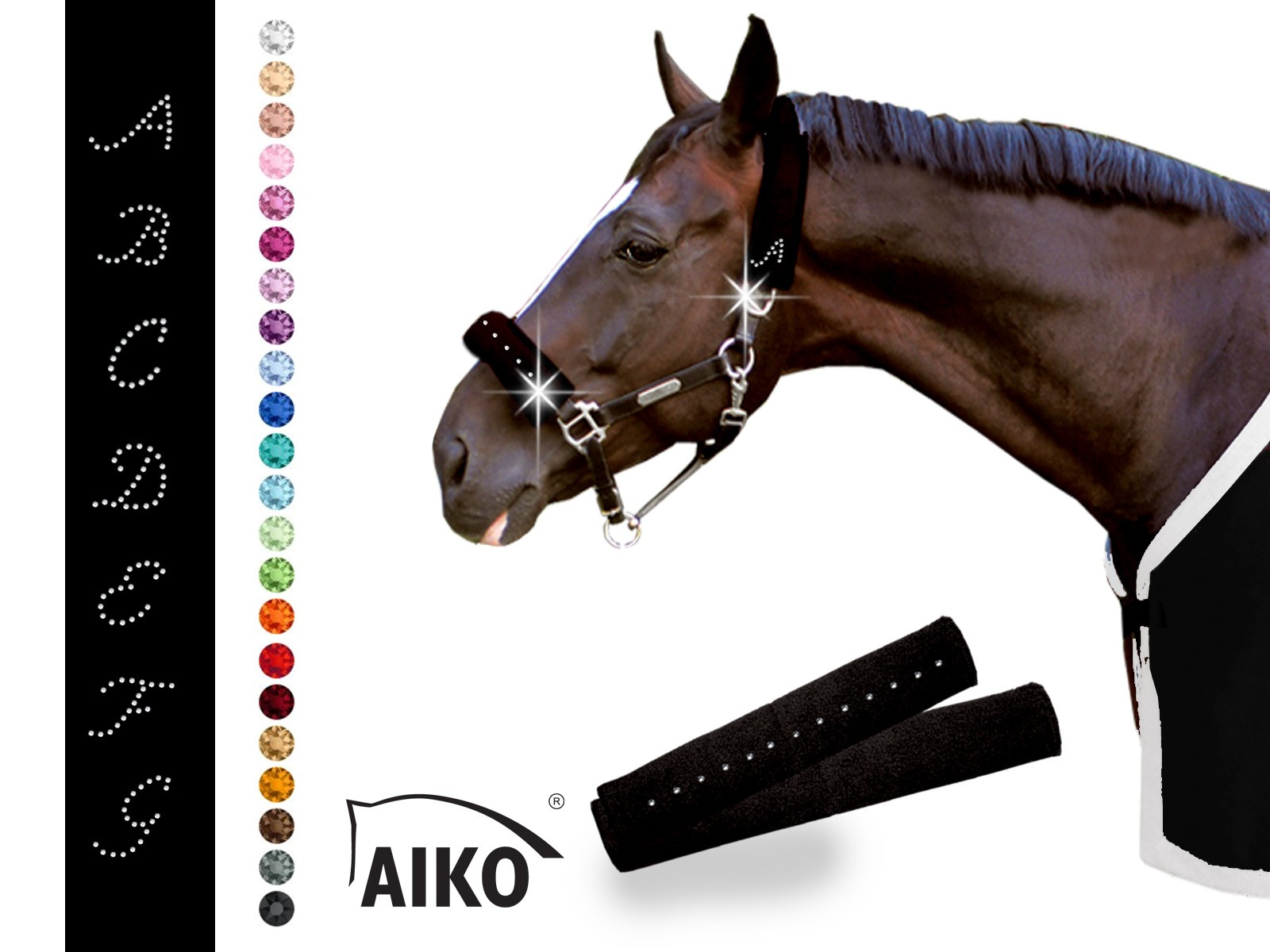 AIKO® Halter Cover Set with crystal bordure - Individual Style