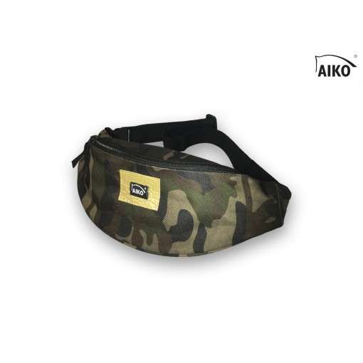 Belly bag with emblem - camouflage
