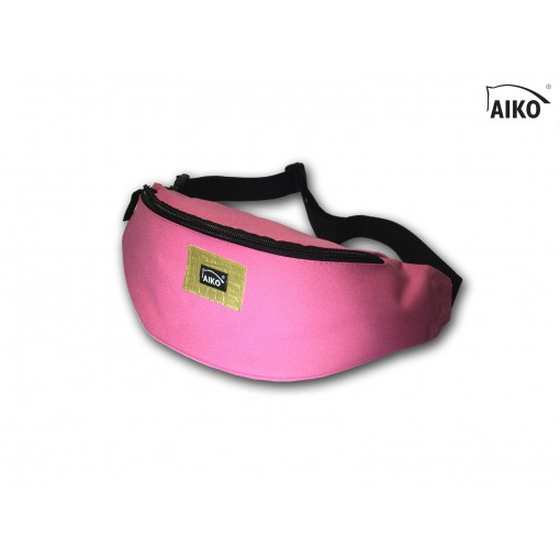 Belly bag with emblem - pink