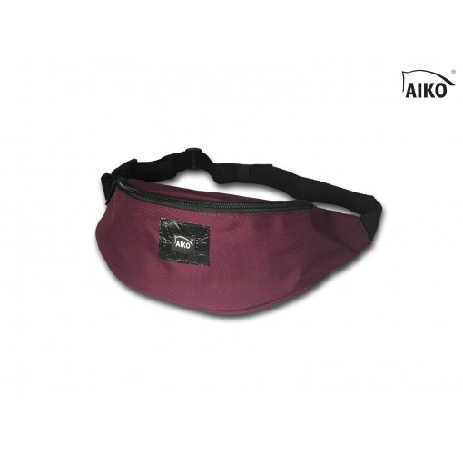 Belly bag with emblem - dark wine