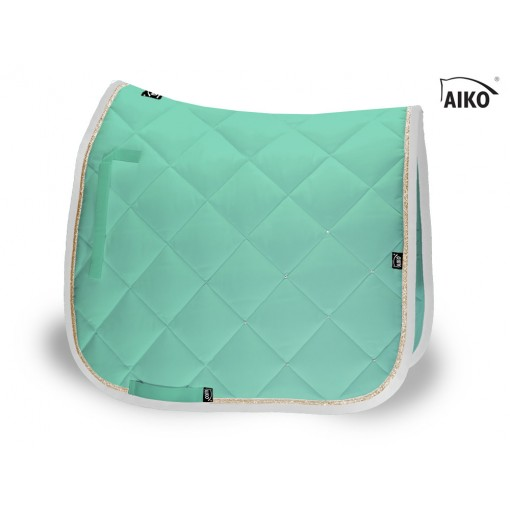 Crystal Shine - saddle pad - peppermint-lightgold