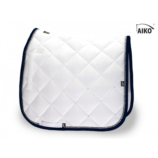 Crystal Shine - saddle pad - white-nightblue-grey