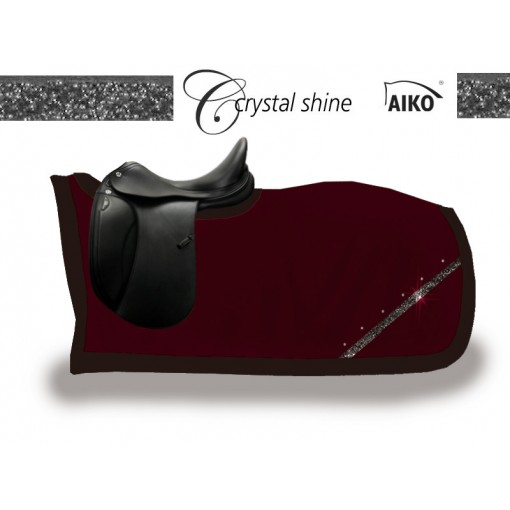 Crystal Shine - kidney rug deep cherry