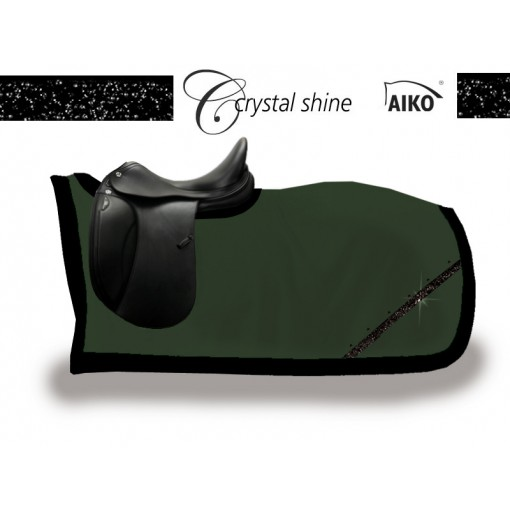 Crystal Shine - kidney rug olive-black