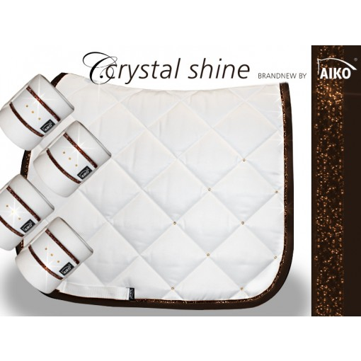 Crystal Shine - saddle pad - white-mocca pony