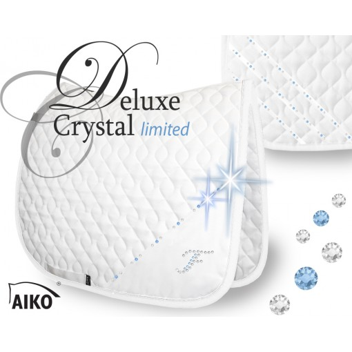 Deluxe Crystal - limited - Exclusive Tournamtent Saddle Pad white-lightsapphire
