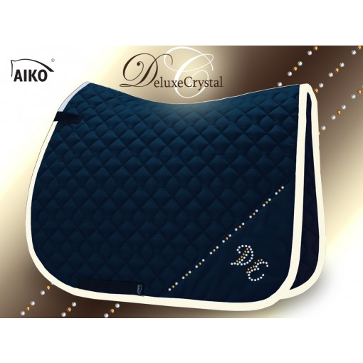 Deluxe Crystal II - Exclusive saddle pad nightblue-creme