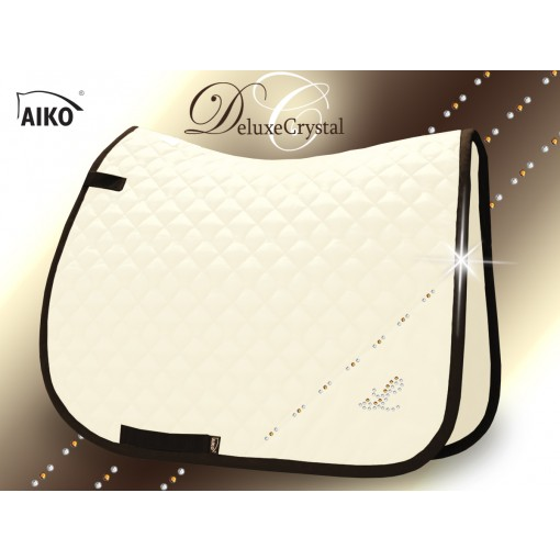 Deluxe Crystal II - Exclusive saddle pad creme-mocca