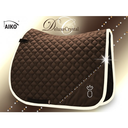 Deluxe Crystal II - Exclusive saddle pad mocca-creme